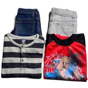 Boys 5T, 5/6 4-Piece Clothing Bundle Lot
